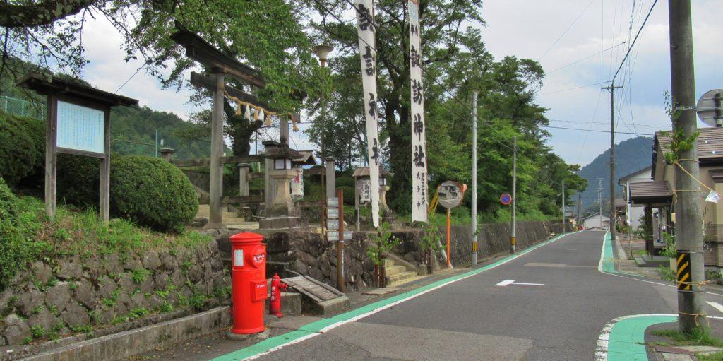 諏訪神社付近