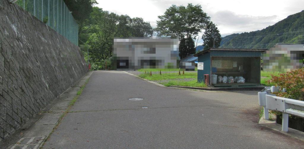 上松中学校付近の分岐点その2