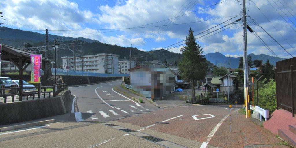 木曽福島駅付近の分岐点その1