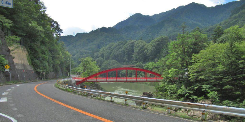 木曽の桟付近の中山道
