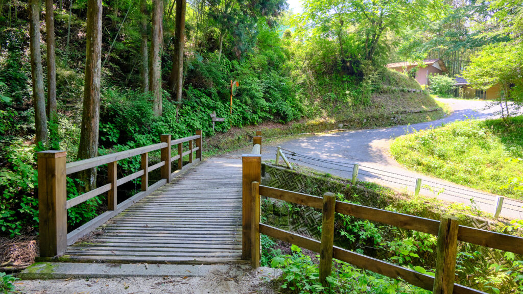 下り谷付近の橋