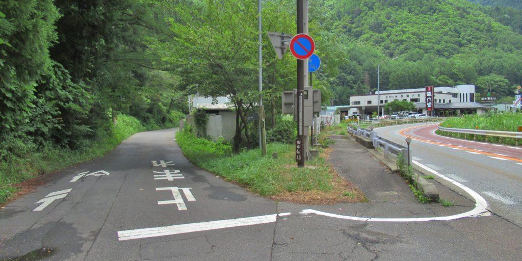 長瀬地区の入口