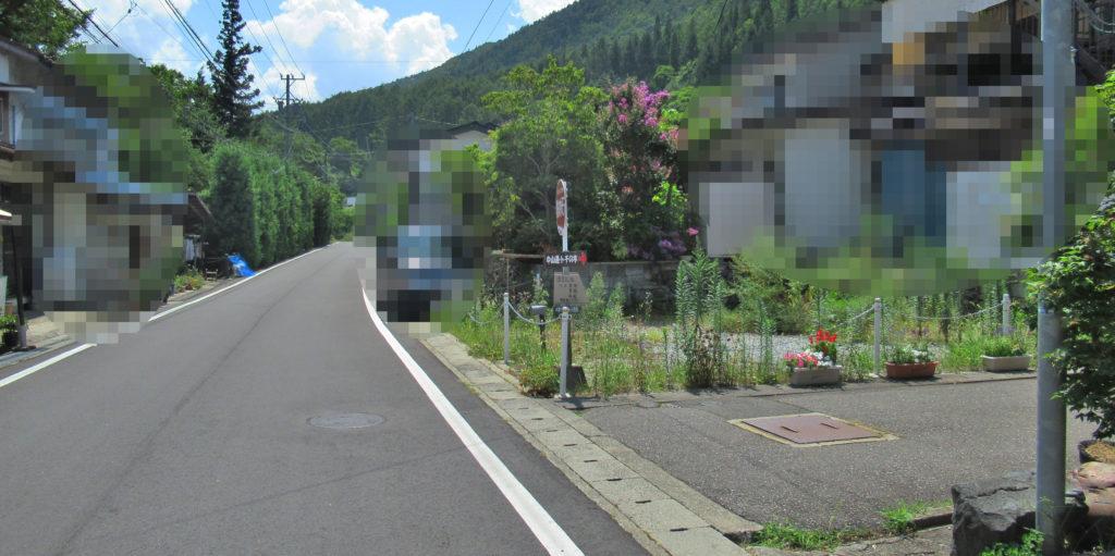 贄川宿枡形跡入口