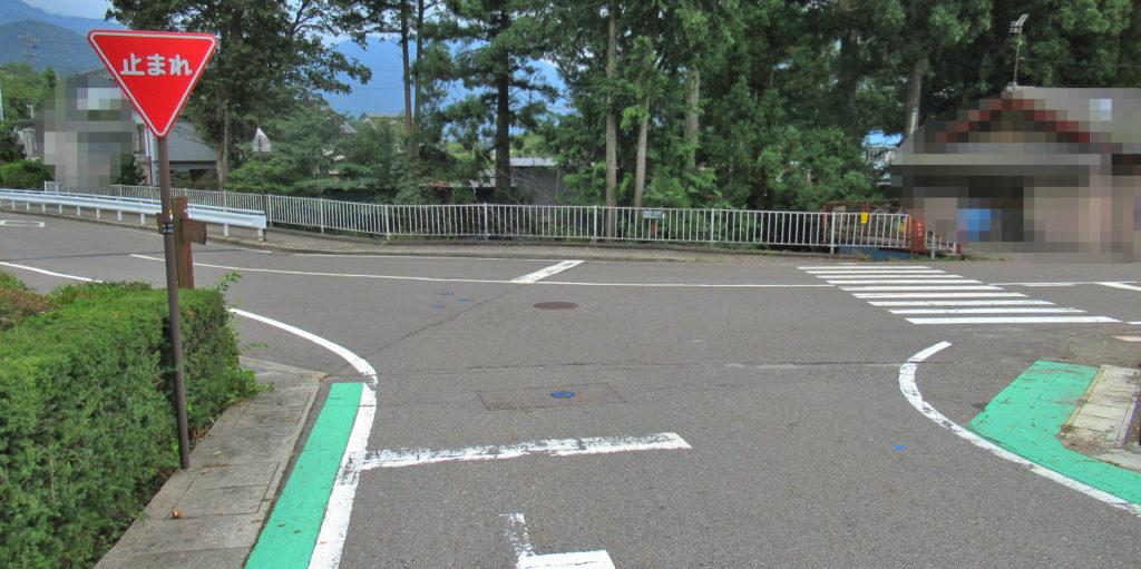 上松小学校付近の分岐点その2