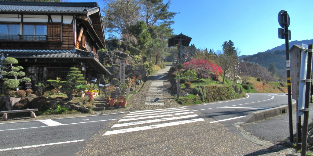 The northern tip of Magome-juku