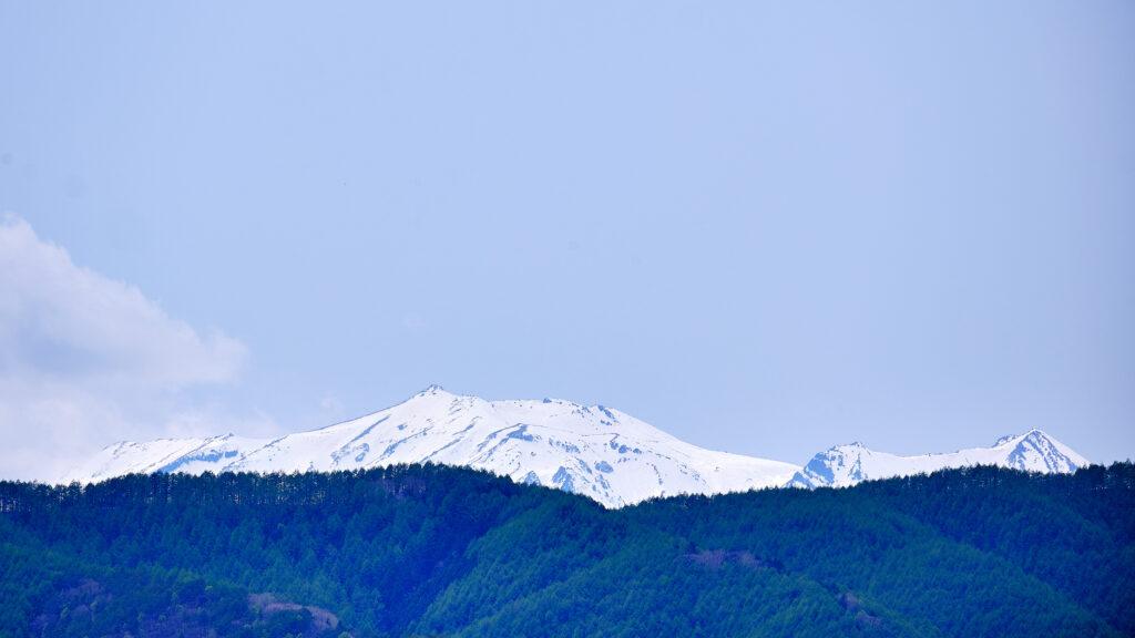 眺望所から見える御嶽山