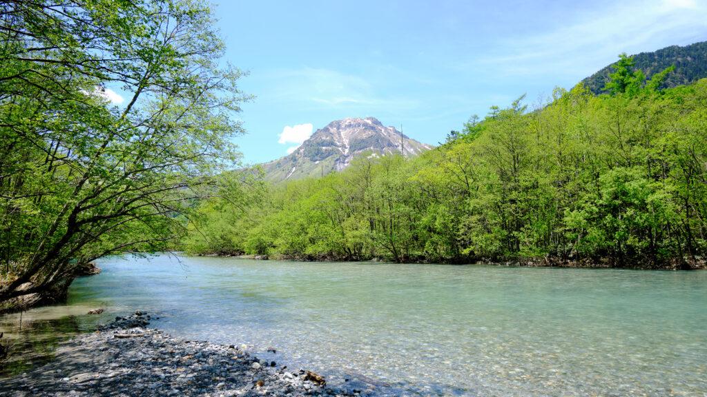 梓川と焼岳 その2